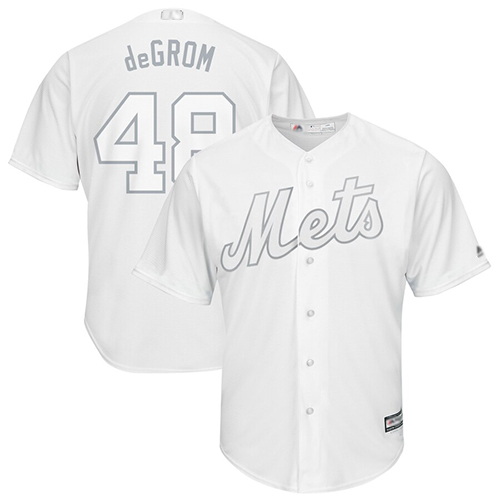 huge selection of 5f75c d8b27 Mets #48 Jacob DeGrom White deGrom Players Weekend Cool Base ...