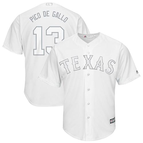 Rangers #13 Joey Gallo White Pico de Gallo Players Weekend Cool Base Stitched Baseball Jersey