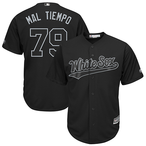 White Sox #79 Jose Abreu Black Mal Tiempo Players Weekend Cool Base Stitched Baseball Jersey