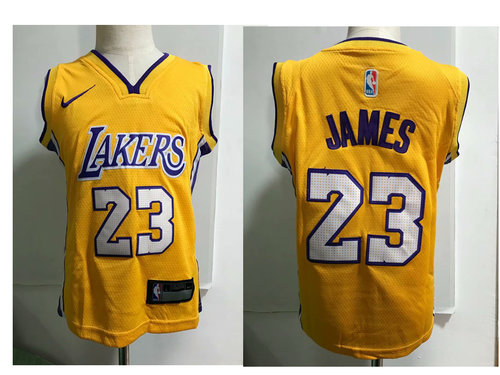 buy popular 4dcc7 0fe37 Los Angeles Lakers #23 LeBron James Yellow Toddlers Jersey ...
