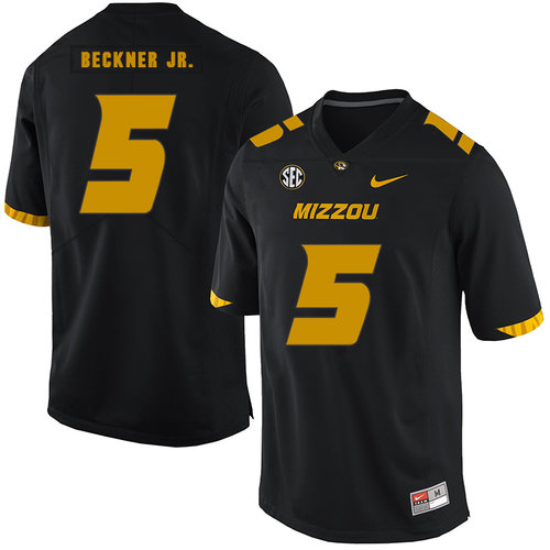 Missouri Tigers 5 Terry Beckne Jr. Black Nike College Football Jersey