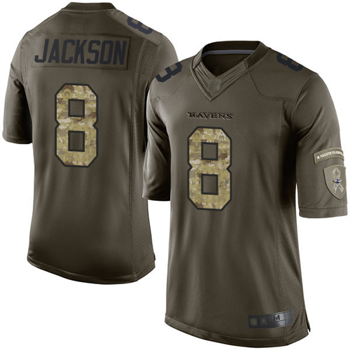 new product 7e8c0 1dde3 Nike Baltimore Ravens 8 Lamar Jackson Gold Inverted Legend ...