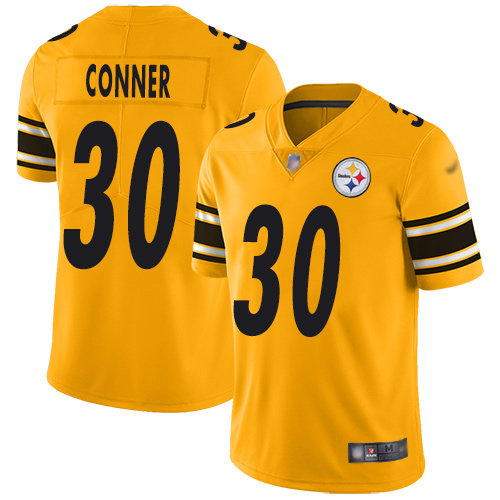 Steelers #30 James Conner Gold Men's Stitched Football Limited Inverted Legend Jersey