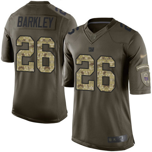 new product 3decd de483 Giants #26 Saquon Barkley Green Men's Stitched Football ...