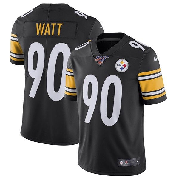 Nike Steelers 90 T.J. Watt Black 100th Season Vapor Untouchable Limited Jersey