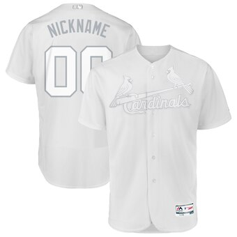 St. Louis Cardinals Majestic 2019 Players' Weekend Flex Base Authentic Roster Custom White Jersey