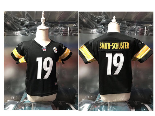 Nike Pittsburgh Steelers #19 JuJu Smith-Schuster Black Toddlers Jersey