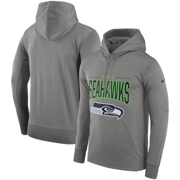 Seattle Seahawks Nike Sideline Property of Performance Pullover Hoodie Gray