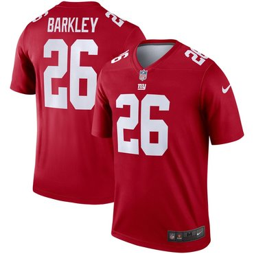 Nike New York Giants 26 Saquon Barkley Red Inverted Legend Jersey