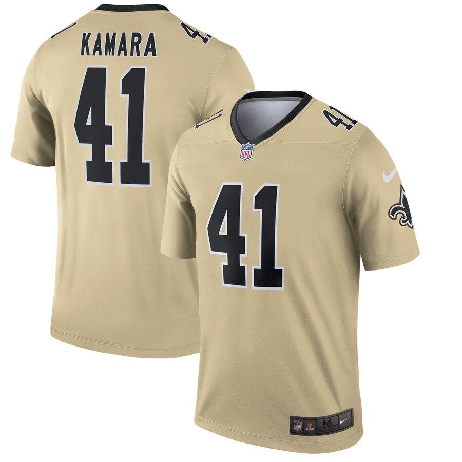 premium selection 4e684 54a4c Nike New Orleans Saints 41 Alvin Kamara Cream Inverted ...