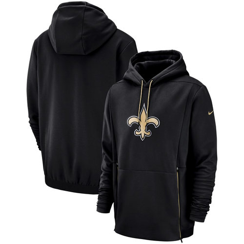 New Orleans Saints Nike Sideline Performance Player Pullover Hoodie Black