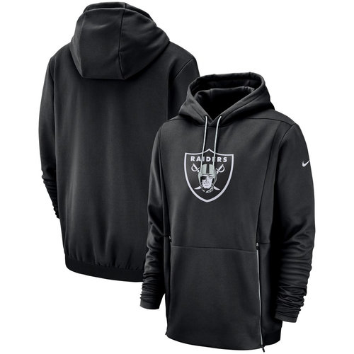 Oakland Raiders Nike Sideline Performance Player Pullover Hoodie Black