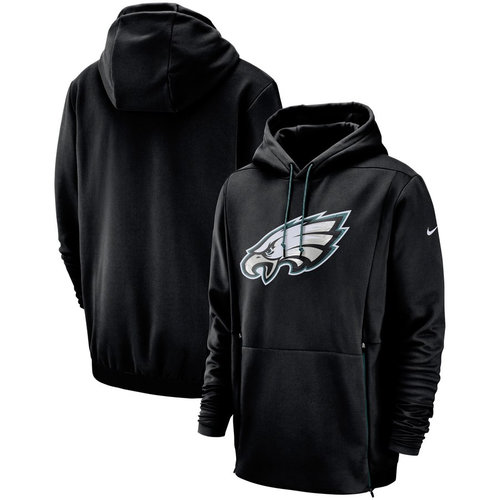 Philadelphia Eagles Nike Sideline Performance Player Pullover Hoodie Black