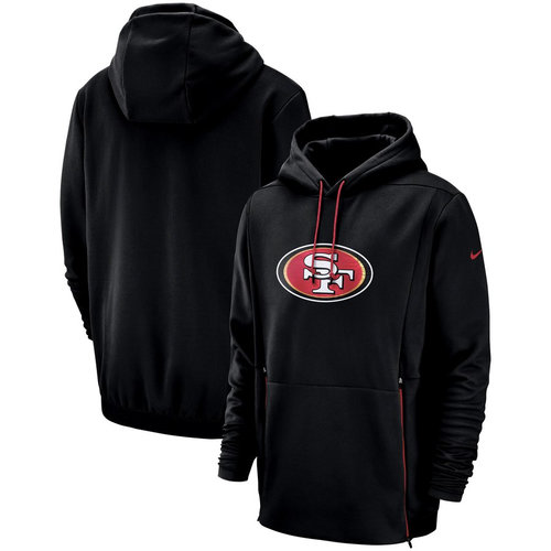 San Francisco 49ers Nike Sideline Performance Player Pullover Hoodie Black