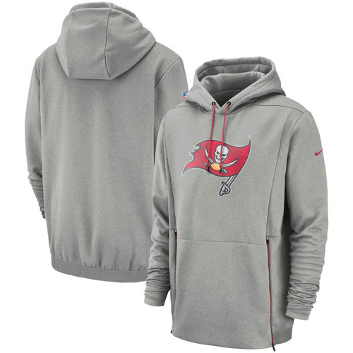 Tampa Bay Buccaneers Nike Sideline Performance Player Pullover Hoodie Gray
