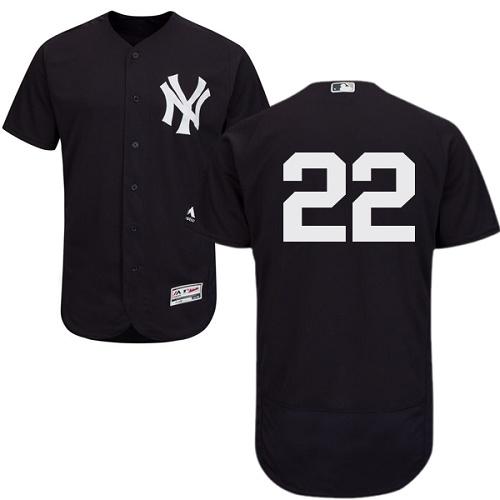 Yankees 22 Jacoby Ellsbury Navy Flexbase Jersey