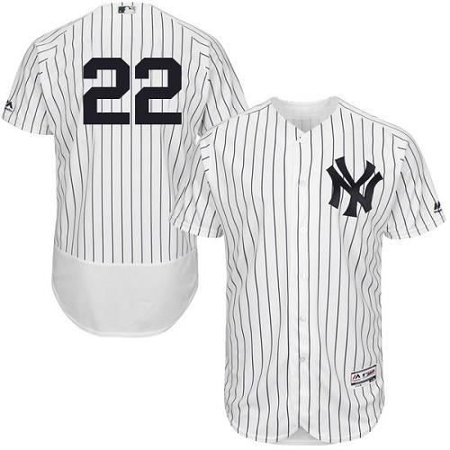 Yankees 22 Jacoby Ellsbury White Flexbase Jersey