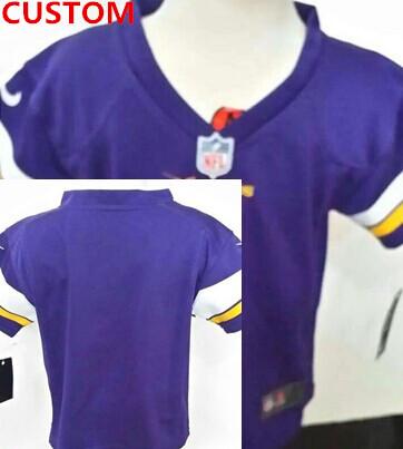 Nike Minnesota Vikings Custom Purple Toddlers Jersey