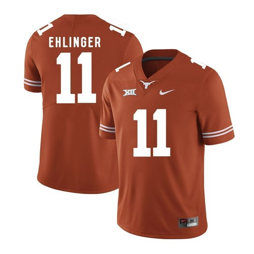 Men's Nike #11 Sam Ehlinger Texas Longhorns Replica Orange Mens Football College Jersey