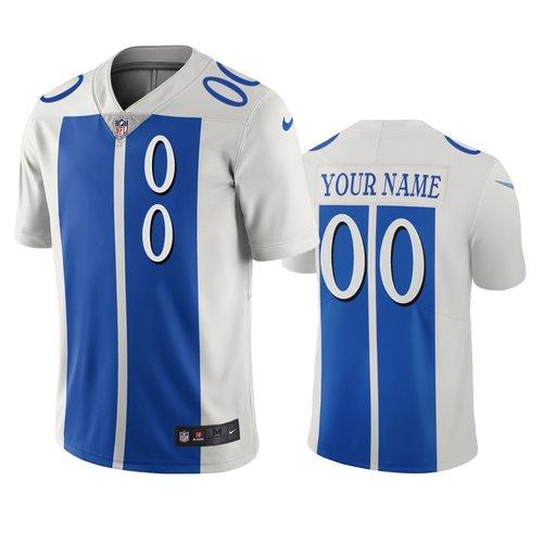 Detroit Lions Custom White Blue Vapor Limited City Edition NFL Jersey