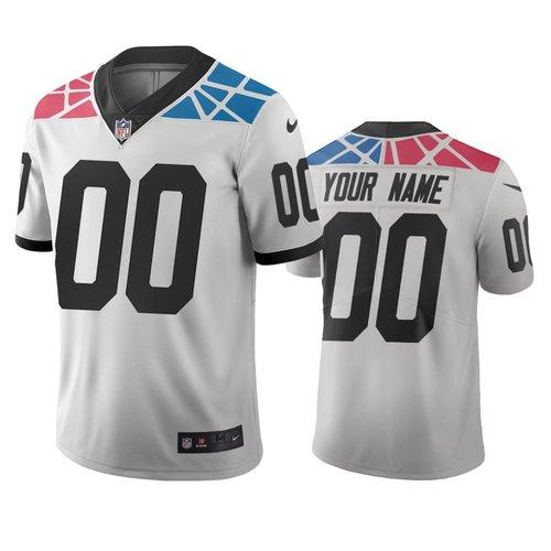 Carolina Panthers Custom White Vapor Limited City Edition NFL Jersey