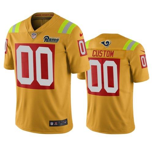 Los Angeles Rams Custom Gold Vapor Limited City Edition NFL Jersey