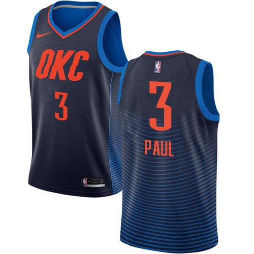 Nike Thunder #3 Chris Paul Navy Blue NBA Swingman Statement Edition Jersey