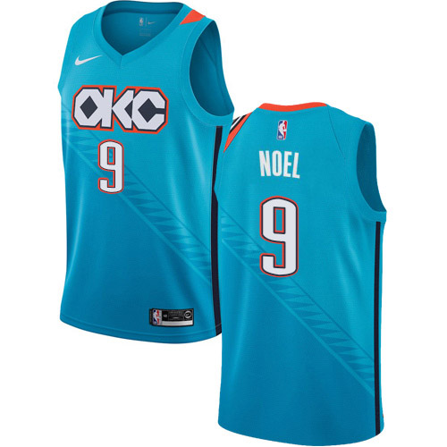 Nike Thunder #9 Nerlens Noel Turquoise NBA Swingman City Edition 2018-19 Jersey