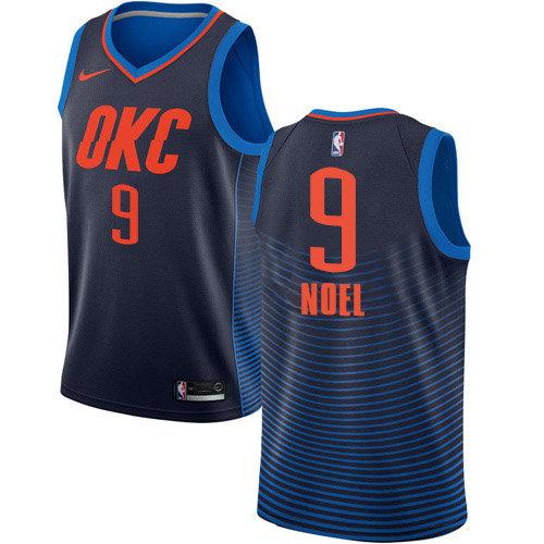 Nike Thunder #9 Nerlens Noel Navy Blue NBA Swingman Statement Edition Jersey