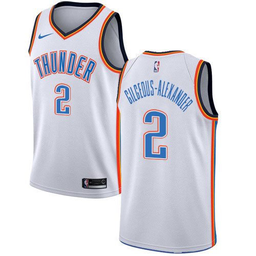Nike Thunder #2 Shai Gilgeous-Alexander White NBA Swingman Association Edition Jersey