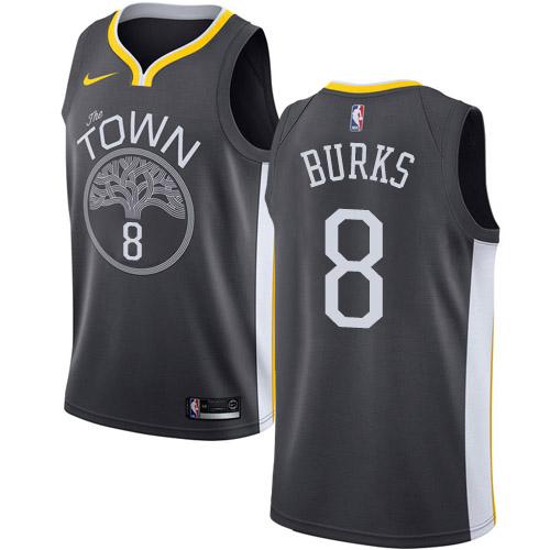 Nike Warriors #8 Alec Burks Black NBA Swingman Statement Edition Jersey