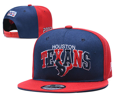 Texans Team Logo Navy Red 100th 2002 Anniversary Adjustable Hat YD