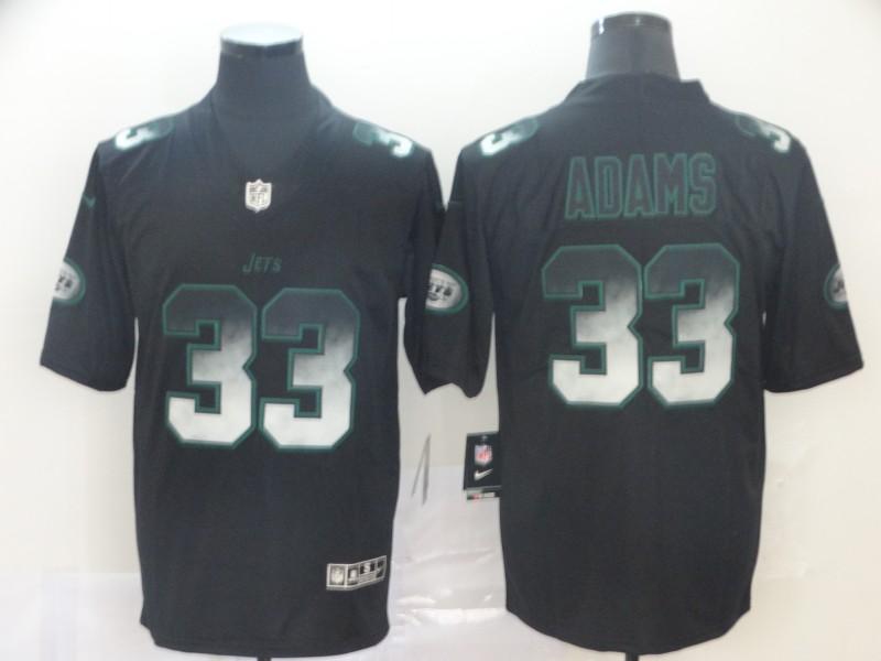 Nike Jets 33 Jamal Adams Black Arch Smoke Vapor Untouchable Limited Jersey