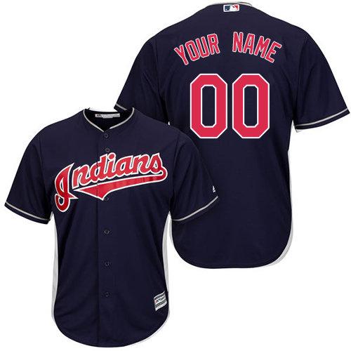 Authentic Navy Blue Baseball Alternate Youth Jersey Customized Cleveland Indians Cool Base