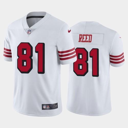 Men's San Francisco 49ers White Limited #81 Jordan Reed Football ...