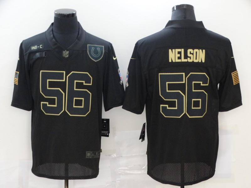 Men's Indianapolis Colts #56 Quenton Nelson Black 2020 Salute To Service Stitched NFL Nike Limited Jersey