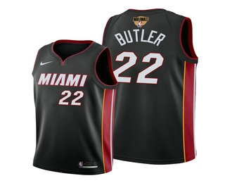 Men's Miami Heat #22 Jimmy Butler Black 2020 Finals Bound Association Edition Stitched NBA Jersey