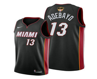 Men's Miami Heat #13 Bam Adebayo 2020 Black Finals Bound Association Edition Stitched NBA Jersey