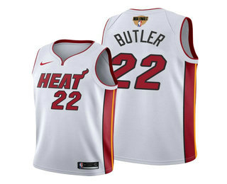 Men's Miami Heat #22 Jimmy Butler White 2020 Finals Bound Association Edition Stitched NBA Jersey