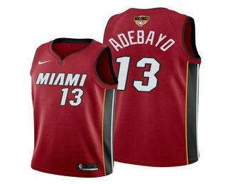 Men's Miami Heat #13 Bam Adebayo 2020 Red Finals Bound Association Edition Stitched NBA Jersey