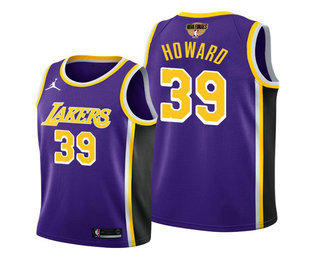 Men's Los Angeles Lakers #39 Dwight Howard 2020 Purple Finals Stitched NBA Jersey