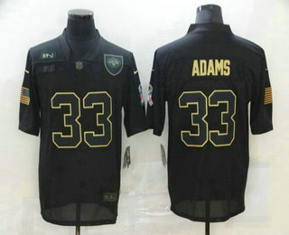 Men's New York Jets #33 Jamal Adams Black 2020 Salute To Service Stitched NFL Nike Limited Jersey