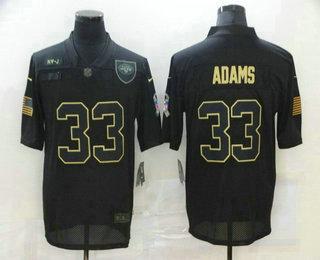 Men's New York Jets #33 Jamal Adams Black 2020 Salute To Service Stitched NFL Nike Limited Jersey