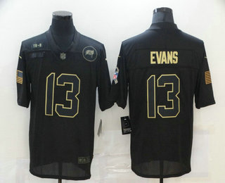 Men's Tampa Bay Buccaneers #13 Mike Evans Black 2020 Salute To Service Stitched NFL Nike Limited Jersey
