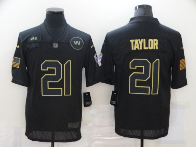 Men's Washington Redskins #21 Sean Taylor Black 2020 Salute To Service Stitched NFL Nike Limited Jersey