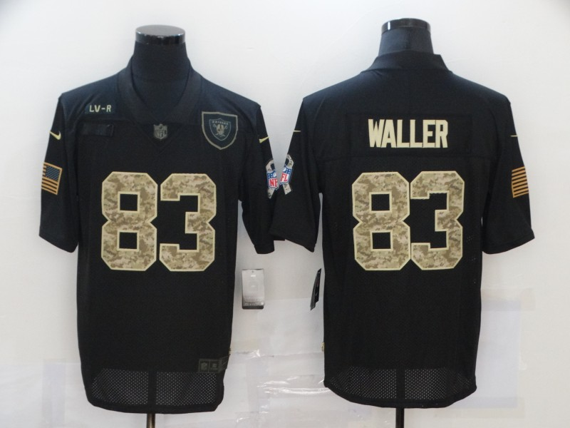 Men's Las Vegas Raiders #83 Darren Waller Black Camo 2020 Salute To Service Stitched NFL Nike Limited Jersey