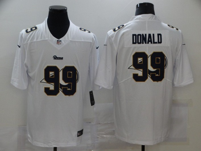 Men's Los Angeles Rams #99 Aaron Donald White 2020 Shadow Logo Vapor Untouchable Stitched NFL Nike Limited Jersey