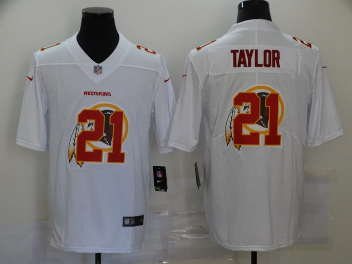 Men's Washington Redskins #21 Sean Taylor White 2020 Shadow Logo Vapor Untouchable Stitched NFL Nike Limited Jersey