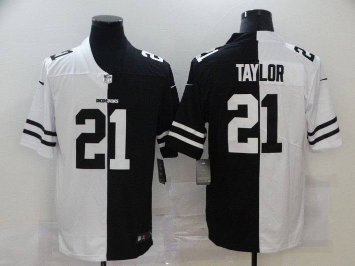 Men's Washington Redskins #21 Sean Taylor White Black Peaceful Coexisting 2020 Vapor Untouchable Stitched NFL Nike Limited Jersey