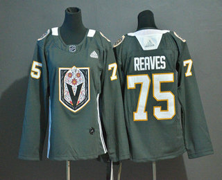 Youth Vegas Golden Knights #75 Ryan Reaves Gray Dia De Los Muertos Adidas Jersey